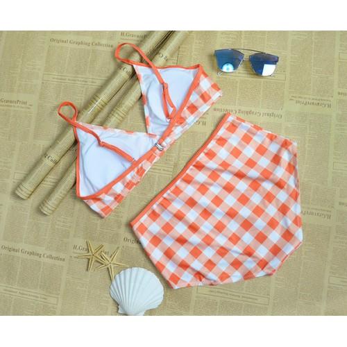 d87c5508254ab ملابس سباحة كاروهات بتصميم جميل